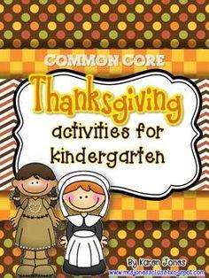 Thanksgiving Common Core activities for Kindergarten! $