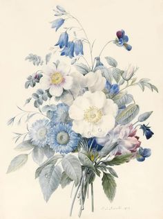 A Spray Of Summer Flowers by Louise D Orleans