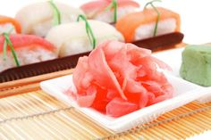 Get the full scoop on Sushi Ginger & Pickled Ginger! Find out the health benefits of ginger. What is ginger? And then, get the pickled ginger recipe! Homemade Sushi, Homemade Pickles, How To Make Homemade, What Is Ginger, Sushi Ginger, Sushi Ingredients, Sushi At Home, Health Benefits Of Ginger, How To Make Sushi