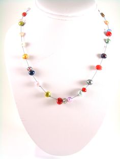 Hand knotted Silk Thread necklace