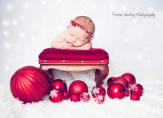 Adorable Christmas Photo... New baby nephew on the way Dec. 20th... Picture this, minus the headband...