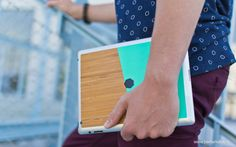 iPad Bamboo Skin by Be markable. made in The Netherlands op CrowdyHouse Netherlands, Bamboo, Ipad, Cover, Cards, How To Make, The Nederlands, Holland, Maps