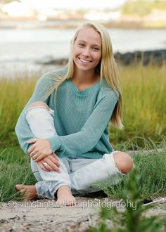 High School Senior Portrait, Beach