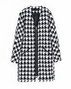 [Código: ABR0005] Abrigo estampado bicolor de corte relajado