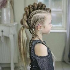 25 new braided hairstyles for girls - viking hair - hair New Braided Hairstyles, Braided Hairstyles Tutorials, Box Braids Hairstyles, Hairstyle Ideas, Hair Tutorials, Dance Hairstyles, Viking Hairstyles, Medium Hairstyles, Pretty Hairstyles