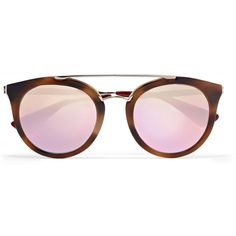 Prada Cat-eye acetate and gold-tone mirrored sunglasses (€305) ❤ liked on Polyvore featuring accessories, eyewear, sunglasses, glasses, óculos, mirrored cat eye sunglasses, tortoiseshell sunglasses, retro cat eye sunglasses, tortoise sunglasses and prada sunglasses