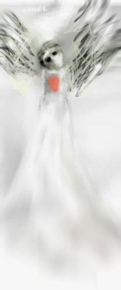 ANGEL TIDE By Ruth Clotworthy Miguel Angel, Cafe Art, Traditional Paintings, Original Paintings, Original Art, Art Festival, Archetypes, Portrait Art, Figurative Art