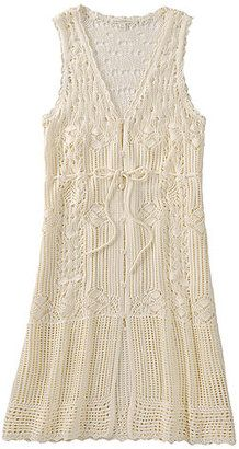 ShopStyle: WOMEN Crochet Sleeveless Dress