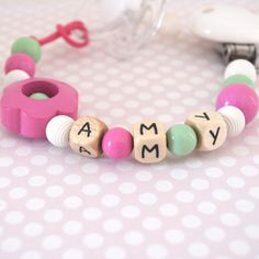 Cute personalized baby pacifier clips!