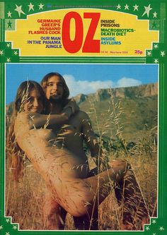 Selected Covers of OZ Magazine  OZ began in 1963 as a humor magazine in Sydney, Australia, but from 1967 to 1973 the publiction survived as a psychedelic hippie magazine in London.