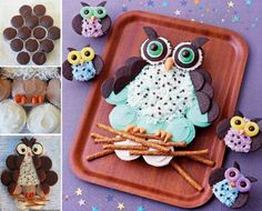 Owl Cupcake Cake Tutorial                                                                                                                                                                                 More