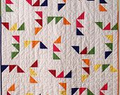 Triangle Maze quilt pattern, via Etsy.