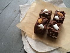 28. Rocky road fudge