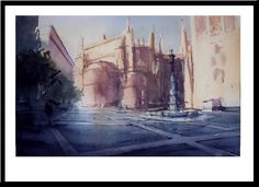 Watercolors original by Páez