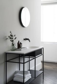 Get the Look: Statement Bathrooms | Frame System by Norm Architects at Meizai | Minimalist Bathroom Console