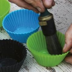 these could be cool in the silicone cupcake tins that come in shapes too