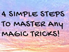 Having a Frustrating Time Learning Magic Tricks? Find out the 4 Steps to Master Any Magic Tricks Learn Magic Tricks, Card Tricks, Magic Shop, Simple, Cards, Easy Magic, Map