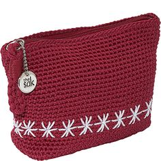 crochet nylon purse