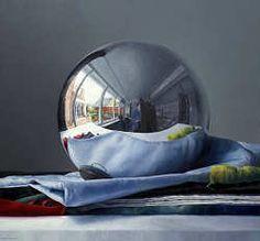 De spiegelbol   schilderij van een heksenbol in olieverf van Adriana van Zoest   Exclusieve kunst online te koop in de webshop van Galerie Wildevuur