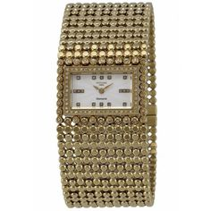 Women's White Mother of pearl Dial Gold Tone Stainless Steel ROCHAS-RH908403KW Watch $508