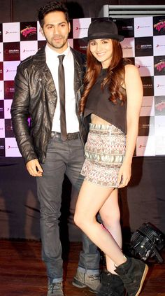 Varun Dhawan and Alia Bhatt look stunning as they pose together while promoting Humpty Sharma Ki Dulhania.