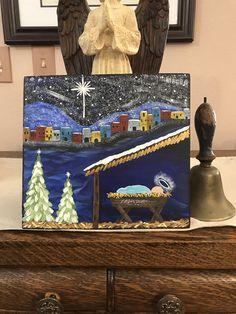 Christmas Nativity, Christmas Art, Christmas Canvas, Christmas Projects, Christmas To Do List, Christmas Signs, Outside Christmas Decorations, Cross Art, Bear Decor