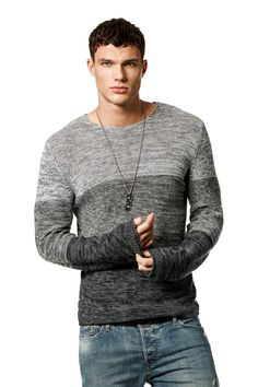Best Fashion Style With Sweater For Man, When you begin improving your style, you're guaranteed to get a few jabs from friends and family. Trying on everything and anything is going to teach . Gents Sweater, Sweater Shirt, T Shirt, Mens Fashion Wear, Casual Sweaters, Well Dressed Men, Cool Style, Man Style, Salsa