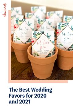 Looking for wedding favor ideas for your 2020 or 2021 wedding? Check out these top picks for wedding favors from The Knot editors and find everything from seed wedding favors to s'more wedding favors made to match your big day. Personalize your wedding and put a spin on tradition with The Knot's customizable wedding websites, wedding invitations, registry. Not sure where to start? Get ideas and advice from our editors on everything from wedding colors and venue types to all things guest. Seed Wedding Favors, Creative Wedding Favors, Wedding Trends, Wedding Ideas, Wedding Website, Unique Weddings, Big Day, Wedding Colors, Wedding Invitations