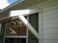 DIY window awning wood bracket