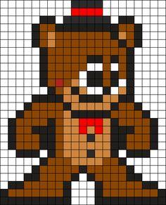 Toy Freddy Perler Bead Pattern / Bead Sprite