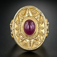 Greek Ruby Ring - 30-1-4167 - Lang Antiques