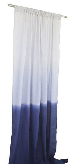 Ombre Cotton Curtains Sheer Curtains Blue decor Blue