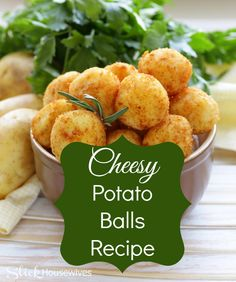 Cheesy Potato Balls Recipe- This cheesey Potato appetizer is a simple and delicious dish to make for your family brunch or large gathering!