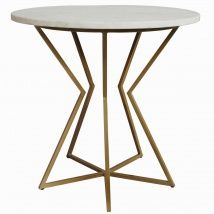 Rosie Marble Side Table - Gold