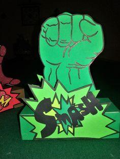 Avengers Party Decoration. Hulk centerpiece Super Hero Party DIY
