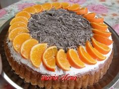 Tort cu crema de ciocolata si mandarine. Yum!