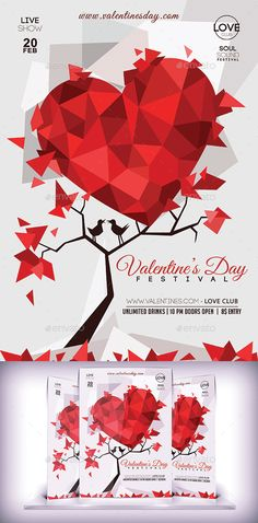 693 Best Valentine S Flyer Templates Images On Pinterest In 2019