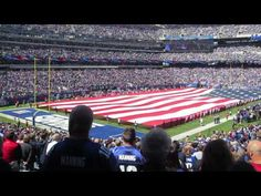 US National Anthem being performed by the West Point Band at the MetLife Stadium prior to the Giants vs. Cardinals NFL game to celebrate 200th anniversary of anthem's composure. #NationalAnthem #USA #NFL #history #flags #examville #classrooms #WestPoint