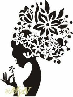 I had to throw this in there! Stencil Art, Stencil Designs, Stencils, Silhouette Portrait, Silhouette Art, Dot Painting, Fabric Painting, African Art Paintings, Quilling Designs