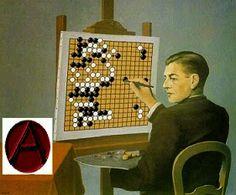 Por una estrategia anarquista ganadora: qué nos enseña el juego de Go - Portal Libertario OACA Future Games, Go Game, Chess Players, Strategy Games, Chess Pieces, Ancient China, Board Games, Holiday Decor, Rene Magritte
