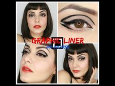 Graphic Liner 60s inspired - YouTube @sixties @60s makeup @eyeliner @lancome @dermalogica @armani @bobbibrown