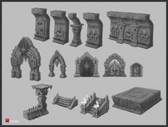 ArtStation - Dungeon 1, Dmitriy Barbashin