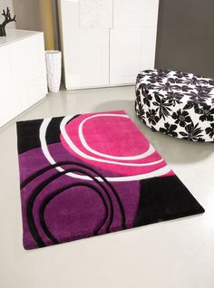 Teppich Fußboden Design Lifestyle 114 Fuchsia Lila 160cmx230cm A100811