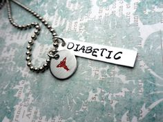 Diabetes Alert Necklace, Medical Alert, Emergency Medical Necklace, Insulin Dependent, Type 1 Diabetes on Etsy, $20.00