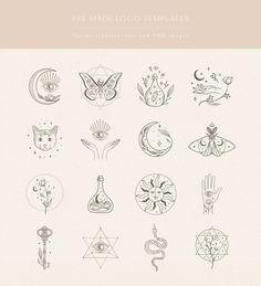 Cute Tattoos, Small Tattoos, Boho Tattoos, Mini Tattoos, Mystic Symbols, Create Logo Design, Eye Logo, Tattoo Illustration, Branding Kit
