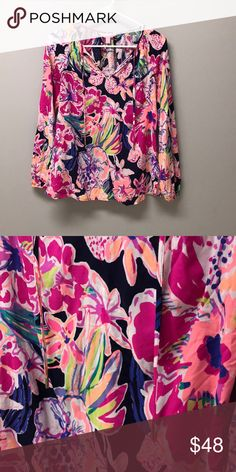 Lilly Pulitzer Willa Top EUC! Lilly Pulitzer Tops Blouses