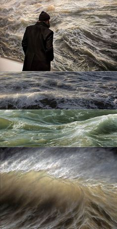 Ran Ortner, prima di essere un pittore iperrealista, è da sempre un appassionato di surf e ha un rapporto col mare intimo e profondo.