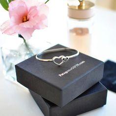 Two hearts together 💕 #valentinesgift #valentineday #handmadejewelry #bracelet #heartbracelet #silverjewelry