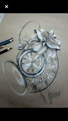 But with compass? – # Cherry Blossom – K …- Aber mit Kompass? – But with compass? – # Cherry Blossom – K …- Aber mit Kompass? Trendy Tattoos, Mini Tattoos, Body Art Tattoos, Sleeve Tattoos, Tattoos For Women, Clock Tattoos, Time Clock Tattoo, Tatoos, Clock Tattoo Design