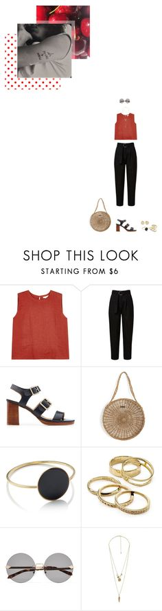 """""""Caught in a Lie"""" by subpop ❤ liked on Polyvore featuring Eileen Fisher, A.P.C., Pari Desai, Étoile Isabel Marant, Kendra Scott, Karen Walker, Charlotte Russe, Rocio and Magdalena Frackowiak"""